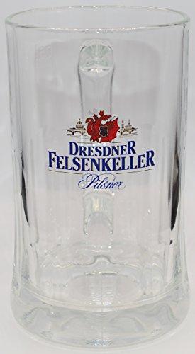1 Stück - Bierglas / Seidel - Dresdner Felsenkeller - 15,5 cm hoch - 0,5 Liter