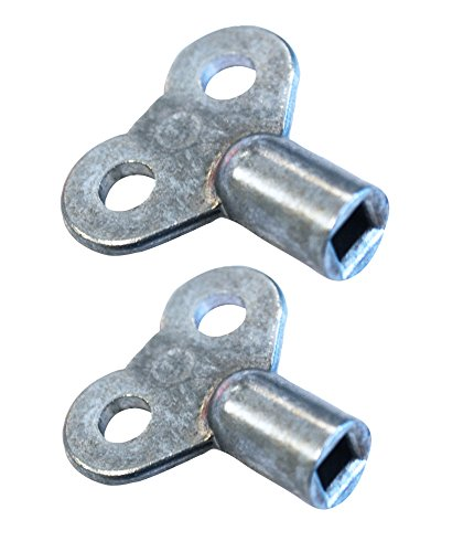 Boutté CLE4PLUSCLE5 Kit cles a carre 4 et 5 pour radiateur, Argent