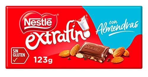Nestlé Extrafino Pasión de Almendras Tableta de Chocolate con Leche y Almendras, 123g
