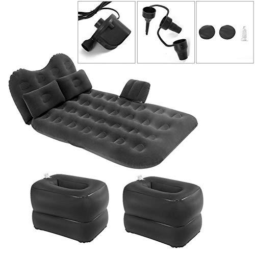 Auto-Luft-Bett aufblasbare Kissen Auto-Kopfstütze Luftmatratze mit Reise Matratze Beflockung Doppelter Schutz
