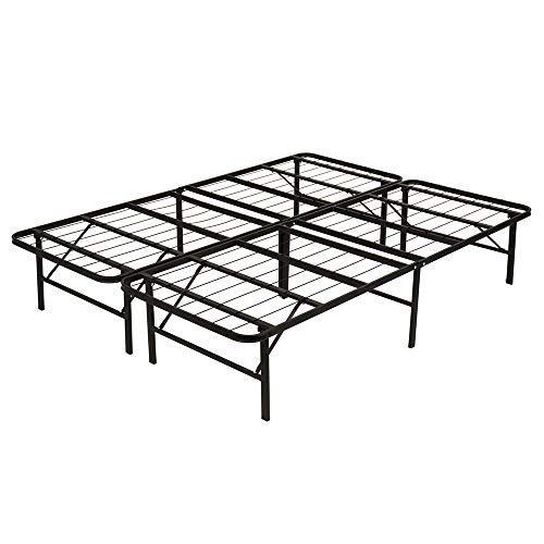 Queen Bed Frame Metal Platform Bed Frame Queen Size 14 Inch Mattress Foundation Box Spring Replacement Heavy Duty Steel Slat Noise-Free Easy Assembly,Black