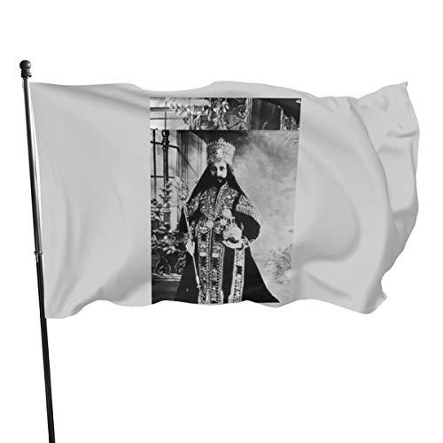 Generic Brands Haile Selassie Empire of Äthiopien Rastafari Flagge Banner Flaggen, 91 x 152 cm