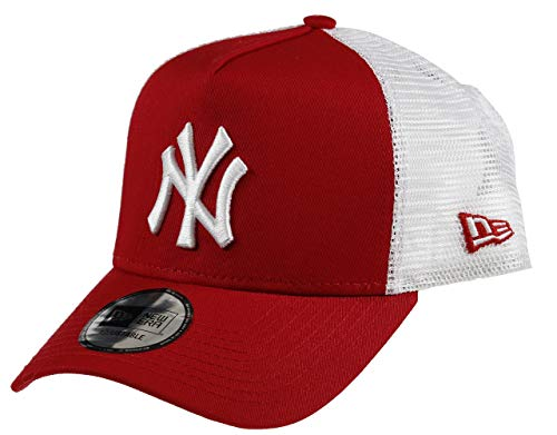 New Era York Yankees Frame Adjustable Trucker Cap Clean Scarlet/White - One-Size