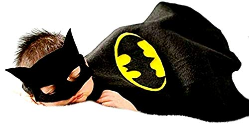 Inception Pro Infinite - Batman Umhang - Baby - Maske - Karneval - Halloween - passend für Fotobücher - Geschenkidee für Weihnachten und Geburtstag