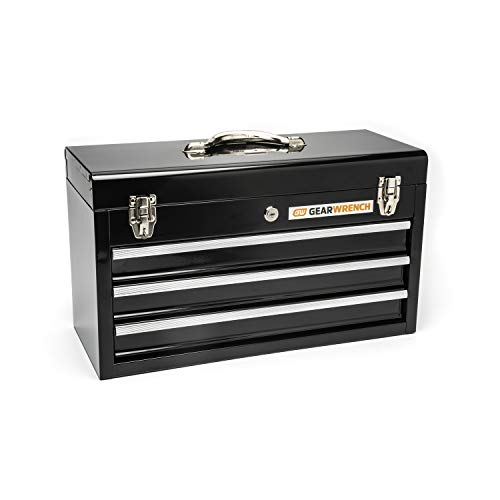 GEARWRENCH 20inch 3 Drawer Steel Tool Box, Black - 83151