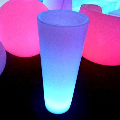 Wmshpeds Full-couleur mode mobilier lumineux extérieur LED pots émettant de la lumière LED pots colorés émettant de la lumière pots de fleurs en plastique
