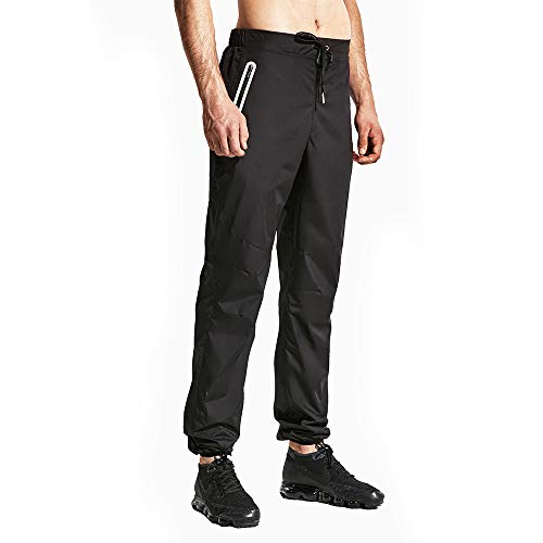 HOTSUIT Sauna Pant Men Weigh Loss Boxing Gym Workout Durable Sweat Suit Black Small