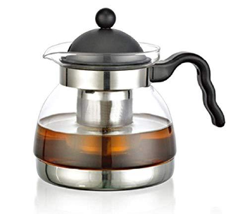 JHSHENGSHI Colador de Tetera, Juego de té de Vidrio, hervidor de Vidrio Resistente al Calor, Tetera, Tetera eléctrica, Olla de cerámica, Juego de té de Vidrio