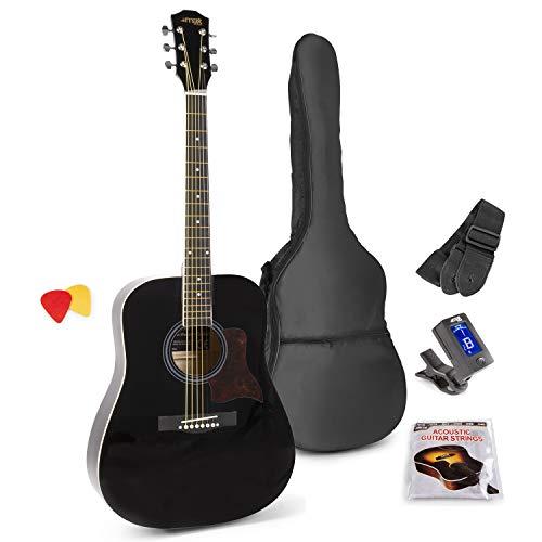 MAX SoloJam Conjunto Guitarra Acústica Negra (Negro)