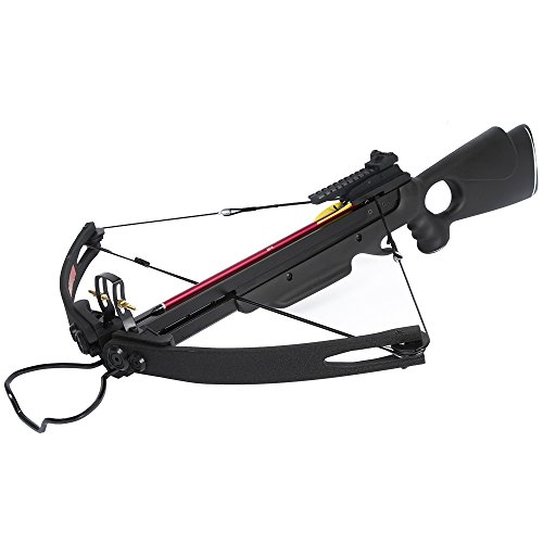 150 lb Black Hunting Compound Crossbow Archery Bow +Rail...