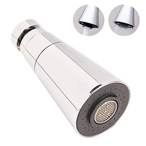 Aireador de grifo, puede girar 360 grados/Filtro de ahorro de agua/Chorro de aire y chorro de ducha Dos modos de agua