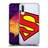 Official Superman DC Comics Oversized Logos Soft Gel Case Compatible for Samsung Galaxy A50 (2019)