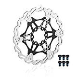 EASTERN POWER Disco Freno 160mm 6 Tornillos(Incluye), Frenos de Disco Bicicleta para Hope/SRAM/Shimano/Hayes/Magura/Avid Montaña/MTB Bici, Negro