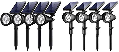 InnoGear Solar Lights Outdoor, 2-in-1 Waterproof Solar Powered Landscape Spotlights Wall Light Decorative Lighting Auto On/Off for Pathway Garden Patio Yard Driveway Pool, Pack of 8