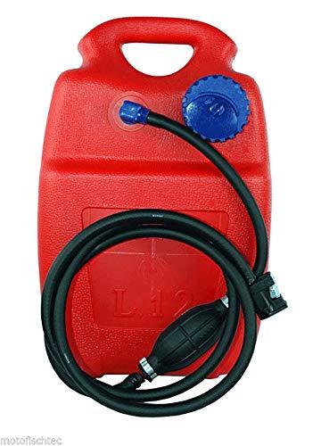 Prowake Kraftstofftank 12 Liter Tank mit Zubehör für Yamaha und Parsun Motoren