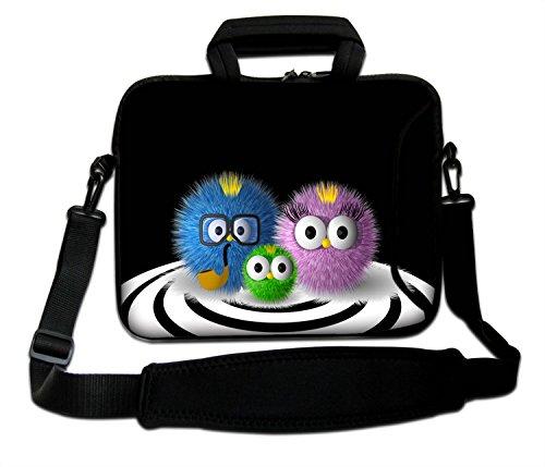 LUXBURG® 17 Zoll Schultertasche Notebooktasche Laptoptasche Tasche mit Tragegurt aus Neopren für Laptop/Notebook Computer