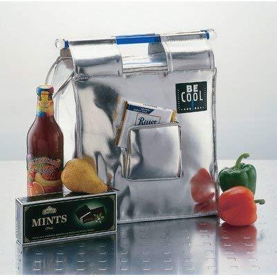 BeCool borsa frigo shopper borsa frigo di design argento 13 litri 28 x 28 x 17 cm - borsa per la spesa che raffredda ed è chic