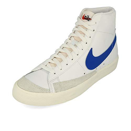 Nike Herren Blazer Mid '77 VNTG Basketballschuh, Weiß/Racer Blausegel, 40.5 EU