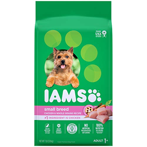 IAMS PROACTIVE HEALTH Small & Toy Breed Adult Dry Dog Food for Small Dogs with Real Chicken, 7 lb. Bag