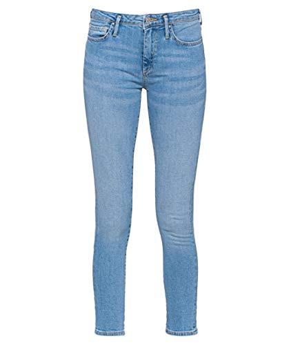 True Religion Damen New Halle Crop Denim Slim Jeans, Blau (Blue 4646), 42 (Herstellergröße: 31)