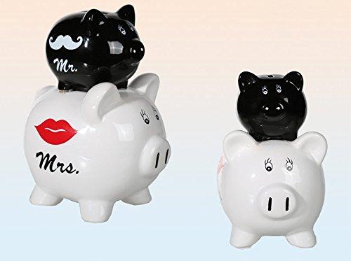 Spardose Sparbüchse Geldgeschenk Hochzeit lustig witzig | Spardose Double Pig Mr & Mrs | Brautpaar Hochzeitspaar Wedding