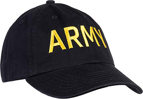 Army PT Style Hat | U.S. Military Physical Traning Infantry Workout Baseball Dad Cap Black