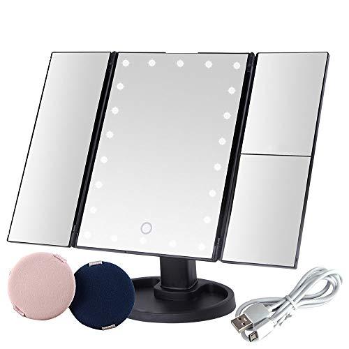 Espejo con Luz para Maquillaje Pantalla Táctil Lámparas con Iluminacíon 22 Led...