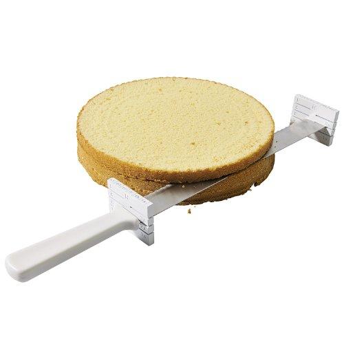 KAISER Tortenboden-Blitz 32 cm Pâtisserie extra scharfe Klinge mit praktischen Distanzhaltern spülmaschinengeeignet