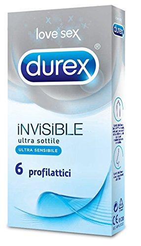 Durex Invisible Kondome Ultra dünn mit hoher Empfindlichkeit, 6 Kondome