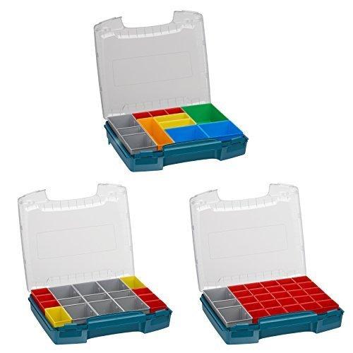 Sortimentsbox transparent | i-BOXX 72 3er Set (grün) mit Insetboxen A3, H3 & I3 | Für i-BOXX RACK & LS-BOXX | Ideale Werkzeugkoffer Einlagen leer