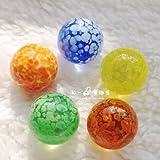 Zhouwei Bola de cristal de 16 mm, color crema, pequeñas canicas de canicas para consola de juegos de pinball con bola de rebote (color: 5 piezas)