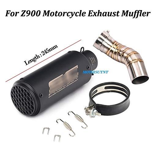 Resbalón en Escape de la Motocicleta for Z900 Pipa del silenciador Modificado con conexión Medio Enlace de tuberías de Todo el Sistema (Color : 06)