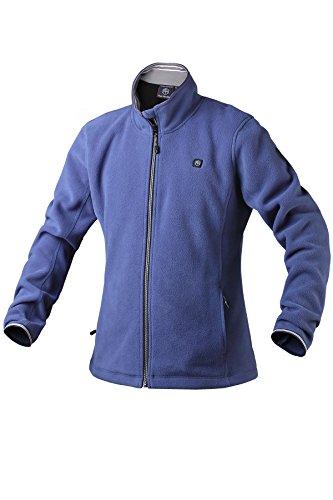 Pau1Hami1ton PJ-06 Damen Winterjacke beheizbare Heiz-Jacke beheizbare Softshell-Jacke Heat Jacket Hoodie Reissverschluss warm Jacke (5V / 2A or Higher Power Bank (M, Blue)