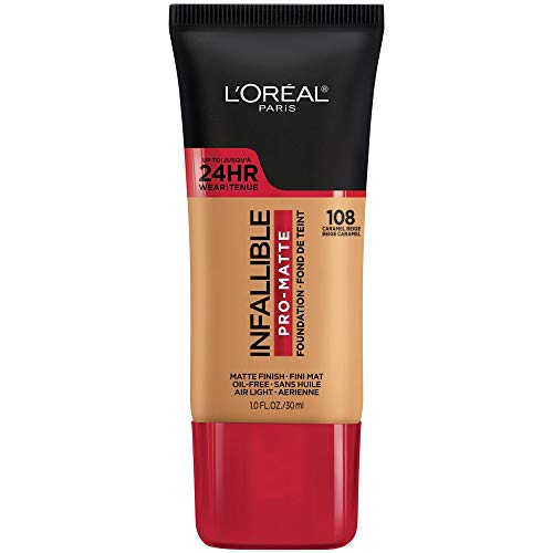 L'Oreal Paris Infallible Pro-Matte Foundation, Caramel Beige [108] 1 Fl Oz