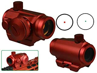 DB Store Red 4MOA Red Green Dot Reflex Sight Low Profile Micro Weaver Picatinny Mount