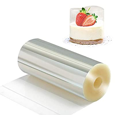 Cake Collars 4.7 x 394inch - Picowe Clear Acetate Strips, Transparent Acetate Roll, Mousse Cake Collar for Chocolate Mousse Baking, Cake Decorating