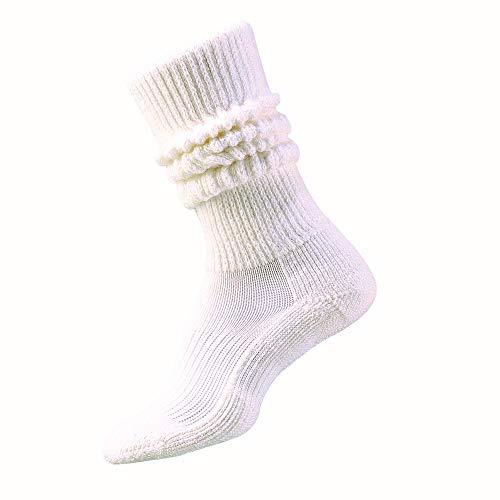 Thorlos AMX Fitness Dick gepolsterte Slouch Socke, Unisex, Weiß, Größe M