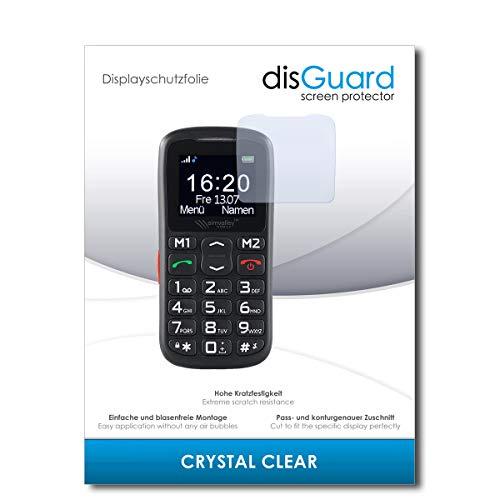 disGuard® Bildschirmschutzfolie [Crystal Clear] kompatibel mit Simvalley Mobile XL-915 V3 [2 Stück] Kristallklar, Transparent, Unsichtbar, Extrem Kratzfest, Anti-Fingerabdruck - Schutzfolie