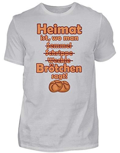 Heimat Brötchen Norddeutschland - Camiseta para hombre, diseño con texto en alemán Gris (mezclado). S