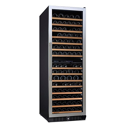 N'FINITY PRO L by Wine Enthusiast – 166 Bottle Dual Zone Built-In or Free-Standing Wine Cellar, Stainless Steel