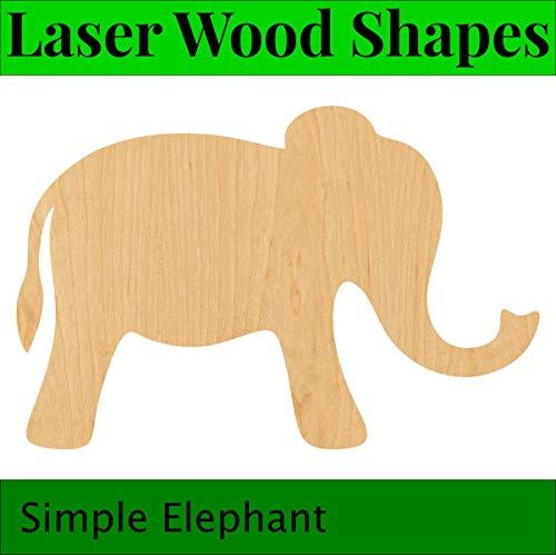 Laser Craft forme. 3 mm MDF 5 x Découpe Laser éléphants 100 mm
