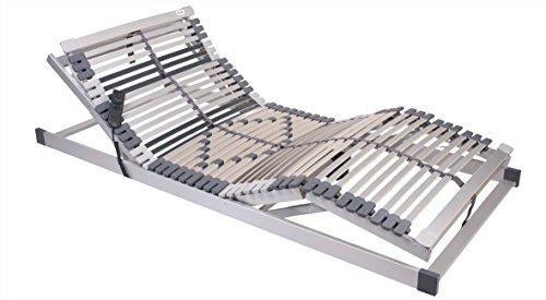 MSS 700100-140.200-EL 7-Zonen Lattenrost Trioflex 140 x 200 cm, Kopf- und Fußteil elektrisch verstellbar, 44 Leisten