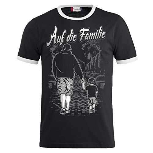 Männer und Herren T-Shirt Auf die Familie Vater & Sohn Größe S - 8XL