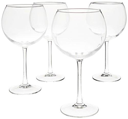 Amazon Basics Red Wine Balloon Wine Glasses, 20-Ounce, Set of 4