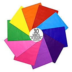 MATERIAL - Full colour tissue paper assortment with slight shine on one side. VERSATILE - Useful for storing items, decoratating, arts & crafts, gift-wrapping for any occasion PROTECT YOUR VALUABLES - Ideal for using to store valuable and delicate it...