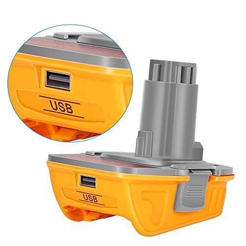 URUN Dewalt DCA1820 - Batería de litio de 20 V con adaptador USB para herramientas Dewalt de 18 V, Convert Dewalt DCB204 DCB205 DCB206 DCB606 para Dewalt 18 V NiCad NiMh Battery Tools DC9096 DW9096