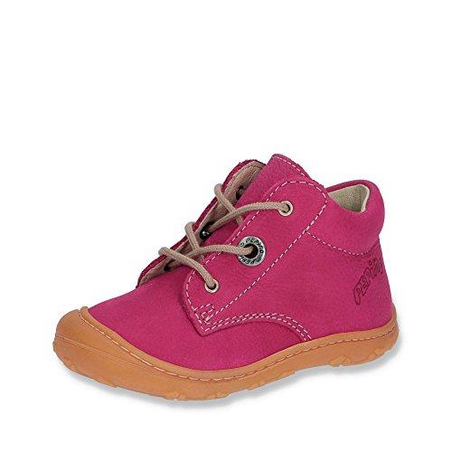 Ricosta 10-1221000 Cory Babymädchen Lauflernschnürschuh Nubukleder flexibel Uni, Groesse 21, pink