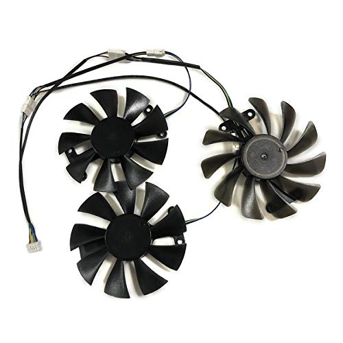 Miwaimao 3pcs/Set Yeston RX580 8G D5 Game Ace PA GPU Cooler Cooling Fan GA91S2H For Yeston RX 580 Cards Cooling As Replacement