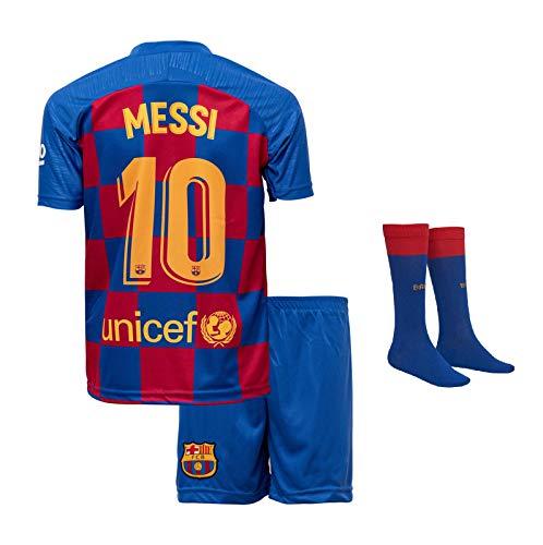Barca Messi 2019/2020 Heim Trikot und Shorts mit Socken Kinder und Jugend Größe (176)