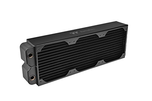 Thermaltake Pacific CL420 - Radiador de Cobre de Alto Rendimiento 420 mm, Color Negro